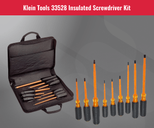 Klein Tools Electricians Screwdriver Set With Bag