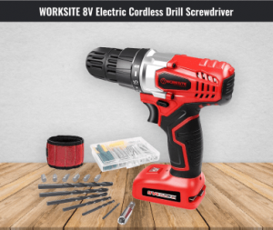 Worksite 8v Electric Screwdriver