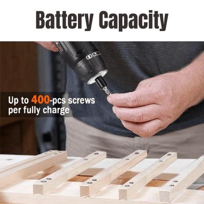 Tacklife SDH13DC Battery Capacity